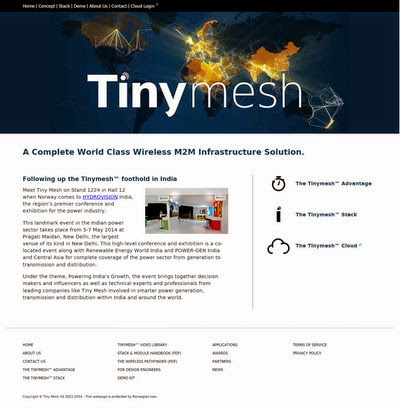Hjemmesider til Tiny Mesh - Wireless Mesh Network