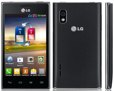 LG Optimus L5 Dual E615, Ponsel Dual SIM Ice Cream Sandwich
