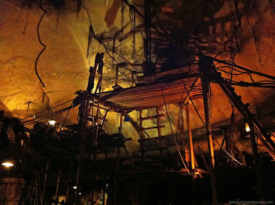Indiana Jones Adventure ride Disneyland temple rotunda queue