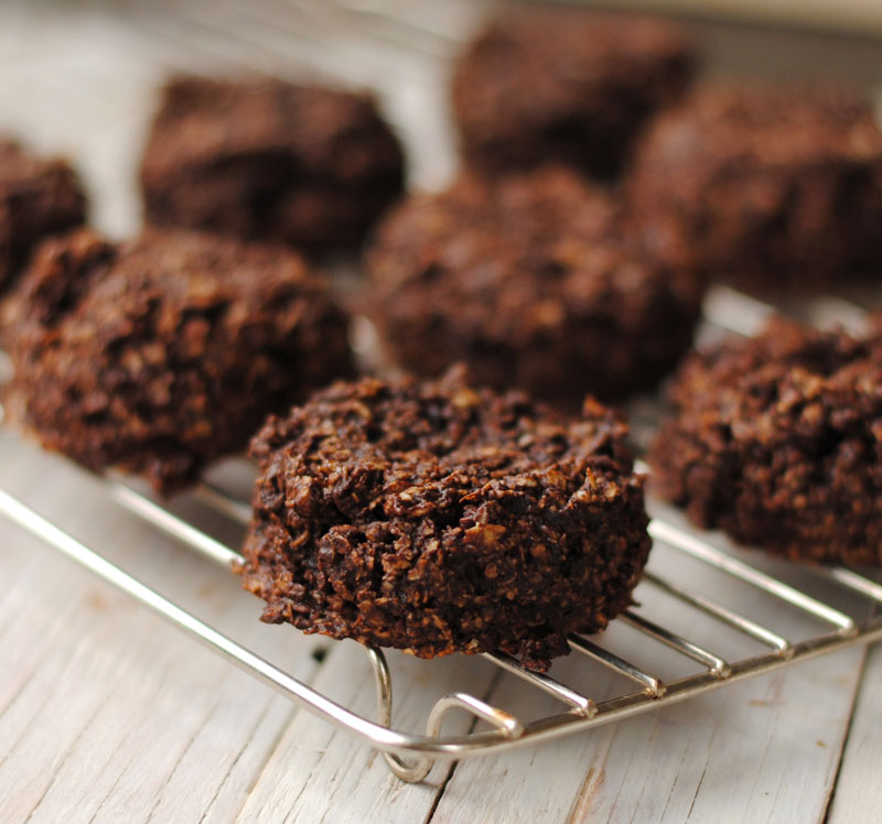 ... chocolate oatmeal cluster cookies, which are flourless and sweetened