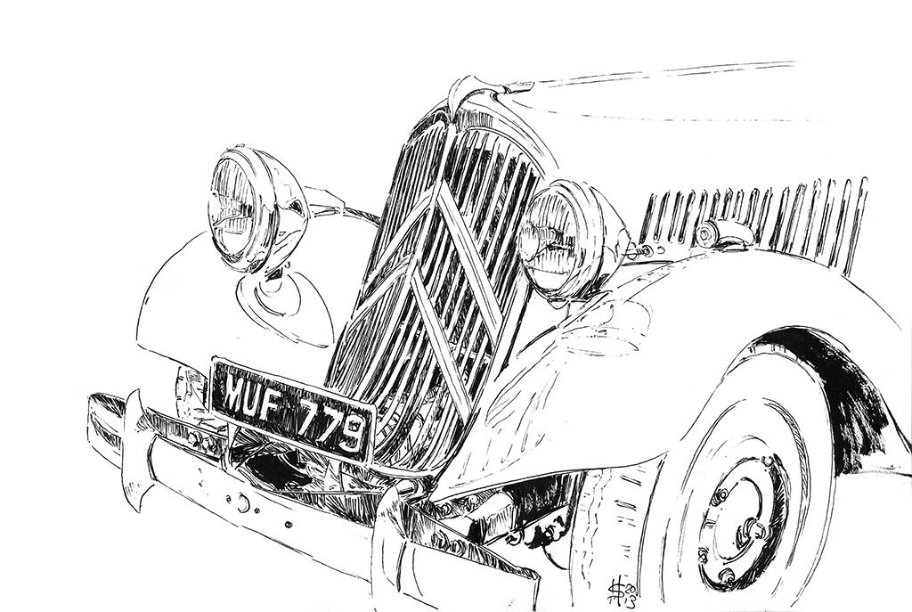 martin squires automotive illustration  la vie en bleu 2013