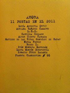 Ahora. 11 poetas en 2011. (Agosto 2011) Ediciones del 4 de agosto