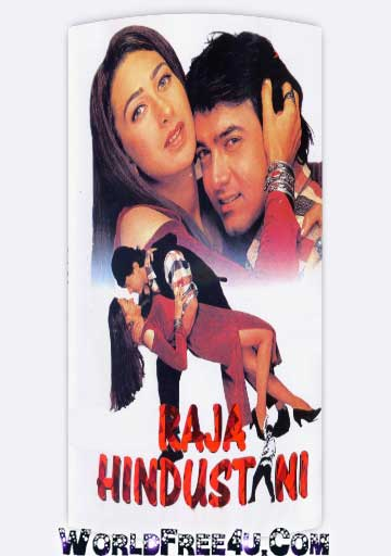 Poster Of Hindi Movie Raja Hindustani (1996) Free Download Full New Hindi Movie Watch Online At worldfree4u.com