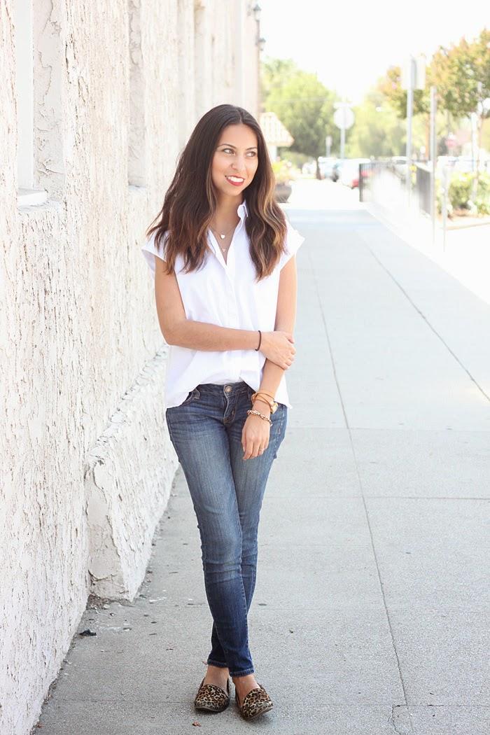 styling a white button down shirt