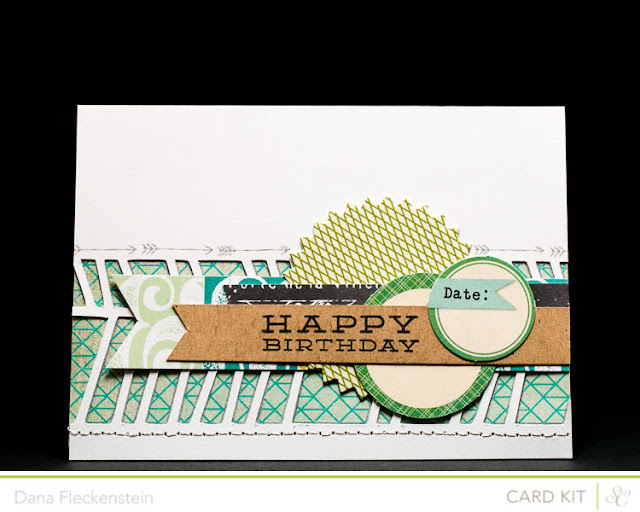 Handmade graphic birthday card using the Studio Calico Block Party Kit by pixnglue