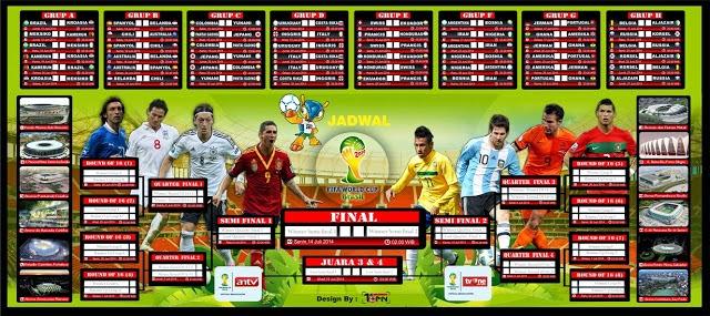 smk 3 tegal Jadwal Televisi TV One ANTV PilDun World Cup 2014 Lengkap