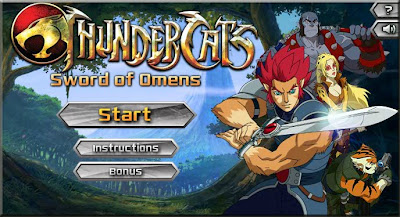 Thunder  Games on Thundercats Games   Sword Of Omens   Jogos Do Thundercats   Espada
