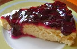 Baked Blueberry Cheesecake Kek Keju Blueberry Bakar