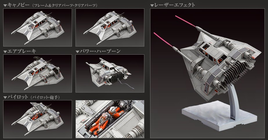 bandai model kit snowspeeder