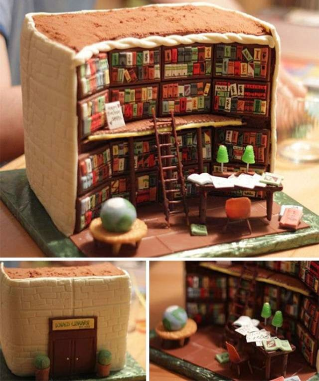 The Library Cake