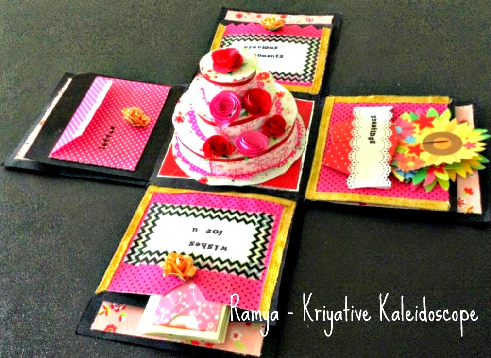 KRIYATIVE KALEIDOSCOPE BIRTHDAY THEME EXPLOSION BOX