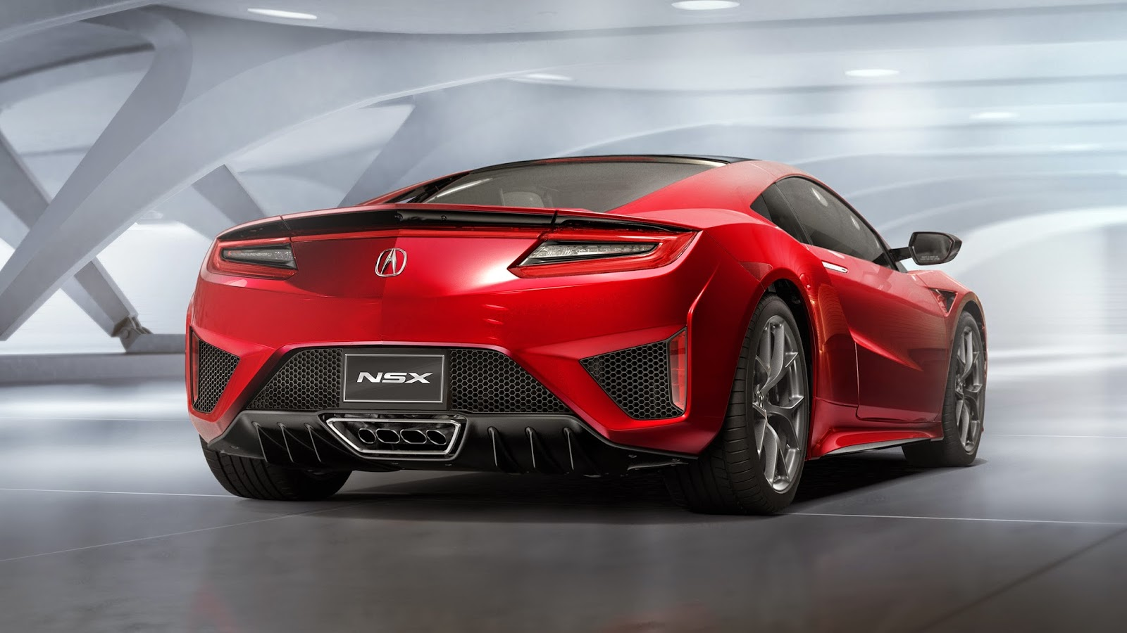 Rear led lights pay homage to the original nsx