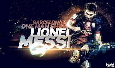 Lionel Messi - Barcelona - Wallpaper Sepakbola Terbaru 2012-2013