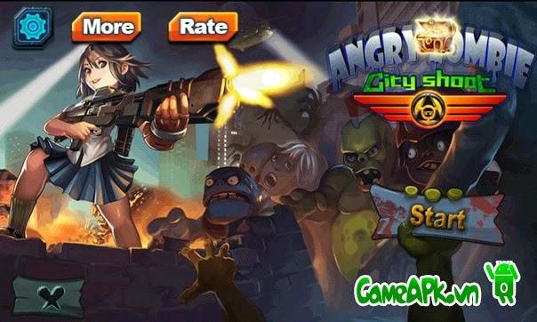 Angry Zombie: City Shoot hack full vàng, kim cương cho Android