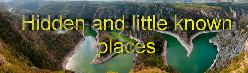 Hidden and little known places