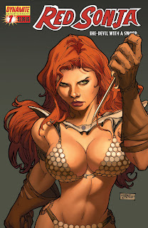 Red sonja warrior woman cover art