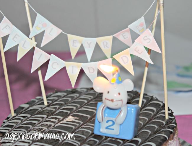 Banderines DIY para decorar tartas de cumpleaños