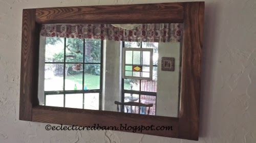 Eclectic Red Barn: Old mirror gets cleaned up and fix Mirror is dated March 21, 1919.