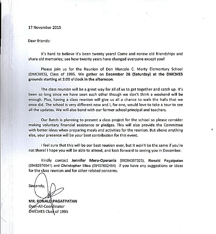 Don marcelo c marty elem school letter of invitation for dmcmes letter of invitation for dmcmes class of 1995 stopboris Image collections