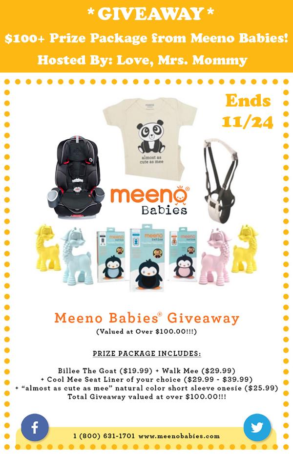 $100+ Meeno Babies Giveaway – Ends 11/24/15