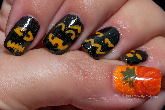 The Nail Junkie  Elevation Polish Halloween nail art