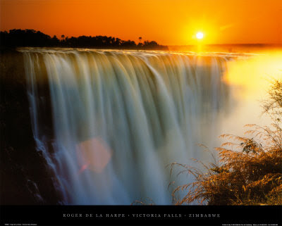 Sunset, wallpaper, Victoria falls