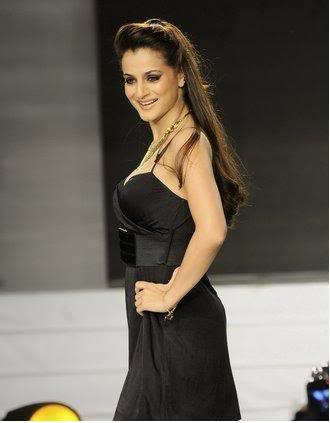Amisha in black dress