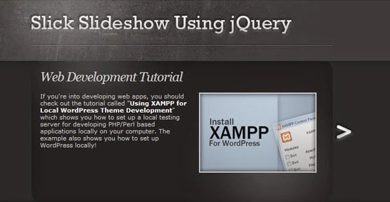 Create a slick and accessible slideshow using jQuery