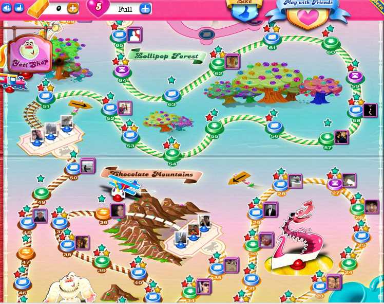 Candy Crush Saga is one of the biggest games currently. Available on