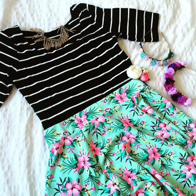 h&m flower crown floral skirt lifestyle blogger