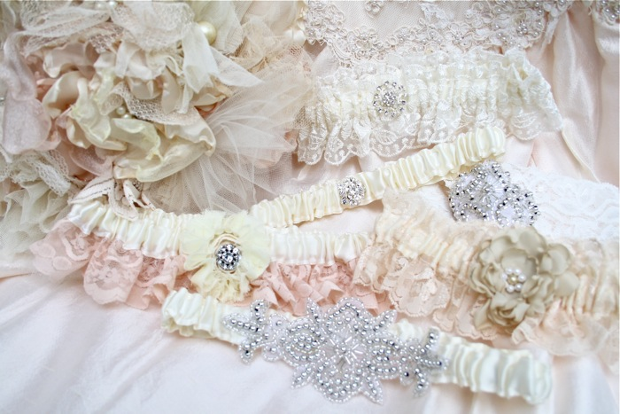 The Polka Dot Closet Making Wedding Garters