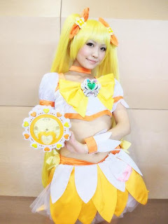 Saki Cosplay as Cure Sunshine from HeartCatch PreCure!
