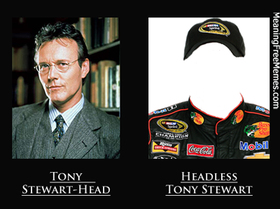 Tony Stewart Head Vs. Headless Tony Stewart: Know The Difference