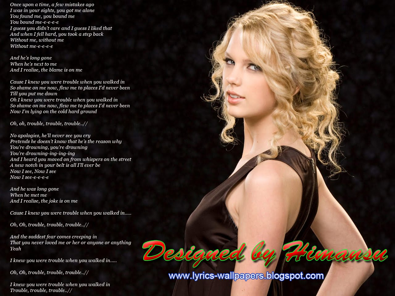Lyrics wallpapers taylor swift i knew you were trouble taylor swift i knew you were trouble hexwebz Images