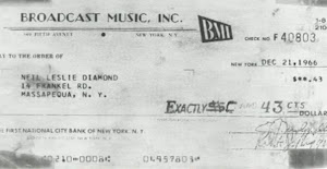 Neil's First Royalty Check 43 cents