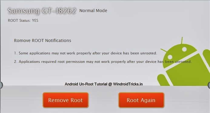 Unrooting Android Using Kingo Root