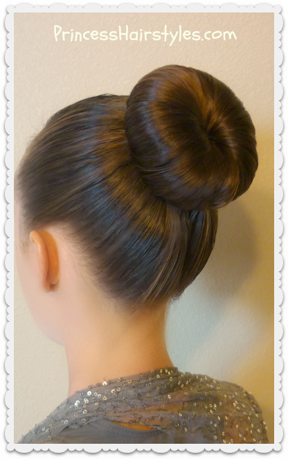 Easy dance bun hairstyle tutorial. Great for ballet, figure skating ...