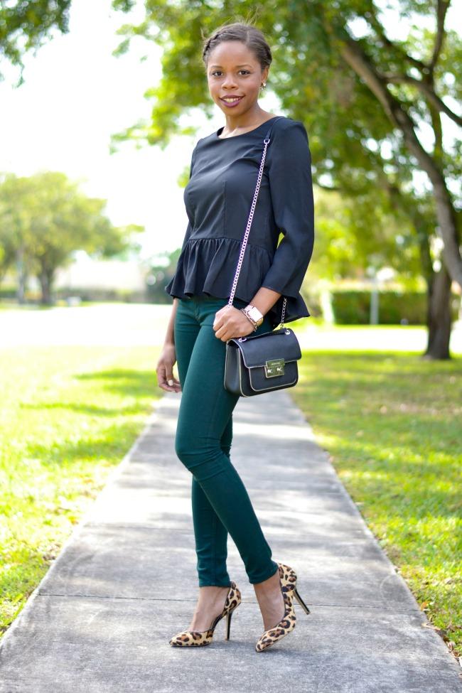Skinny Jeans & Leopard Heels | Date Night Outfit Ideas