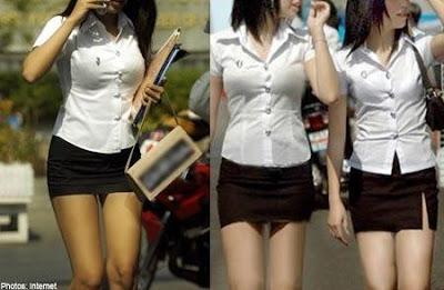 Đồng phục của sinh viên Thái Lan khêu gợi nhất