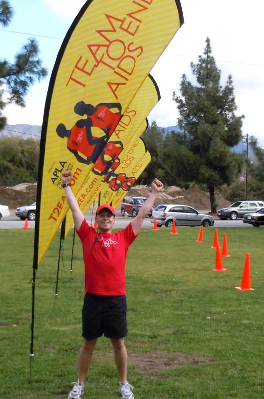Jason after 23 miles marathon training