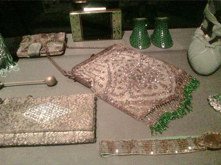 vintage beaded purses and belt dancing shoes etc