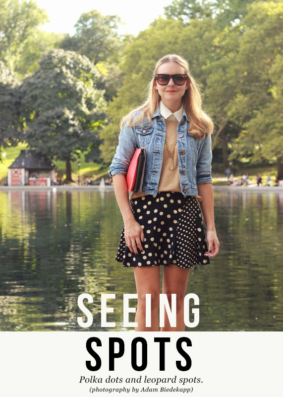 The Steele Maiden: wearing Sole Society leopard booties and polka dot skirt