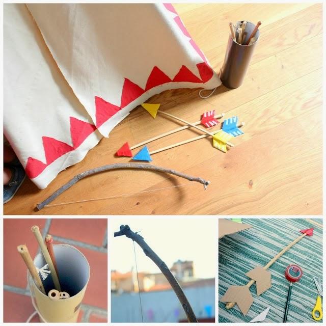 jugar a hacer el indio peques ideas manualidades DIY play kids weekend holidays vacaciones fin de semana