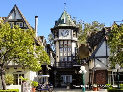clock tower at Wine Valley Inn & Cottages in Solvang, California