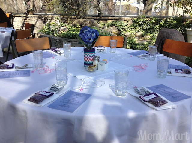 Modern Purple Baby Shower Tables