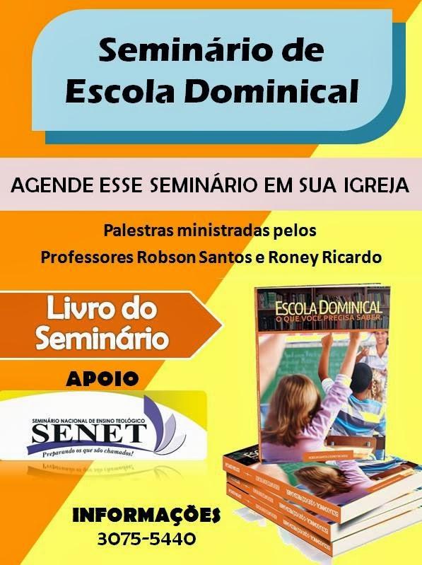 SEMINÁRIO, CONFIRA !!