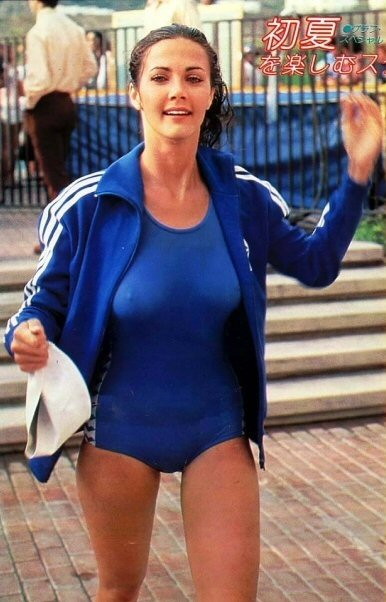 That blue yak battle of the network stars lynda carter gabe lynda carter yowza you can even see areola before the days of the internet seeing nipple on tv was like finding gold in them thar hills thecheapjerseys Choice Image