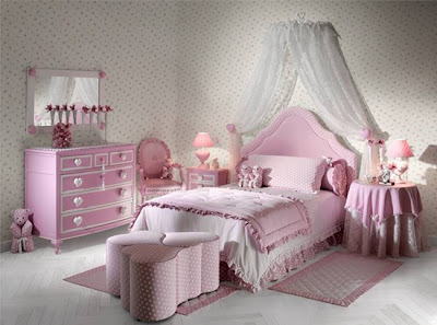 dormitorio romántico para niña