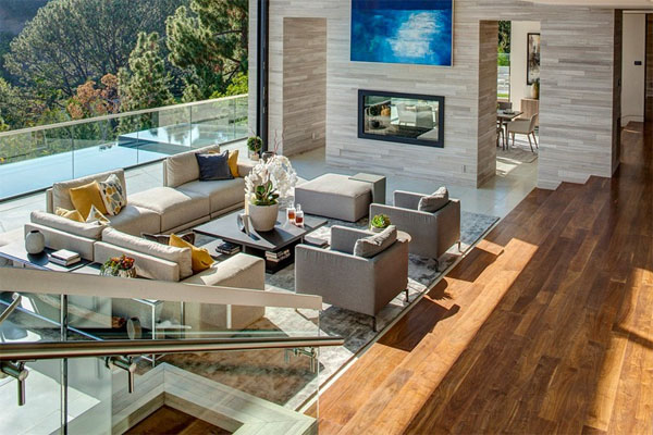 Luxury living area