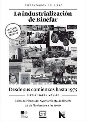 cartel La Industrialización de Binéfar, por Silvia Isabal